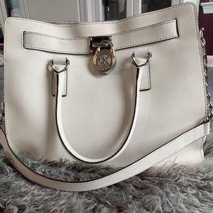 Michael Kors Hamilton - white, saffiano leather